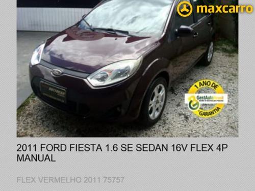 Foto do veículo FORD Fiesta Sed. 1.6 8V Flex 4p 2011/2011 ID: 39234